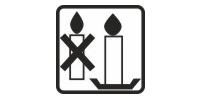 Natural candles shall be always used with a candlestick. It is unsafe to fix candles without it.
