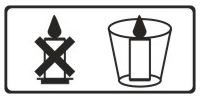 A candle shall be placed in a suitable candlestick as it may melt quickly, when burning, if it is put on a tray only.
