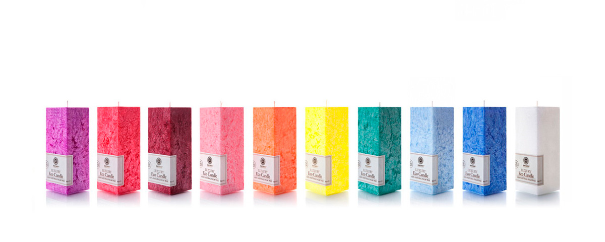Palm wax candles: Square