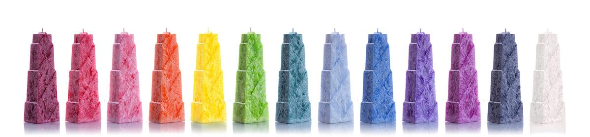 Пальмовые свечи: Ромбы