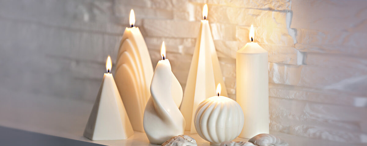 Soy wax molded candles