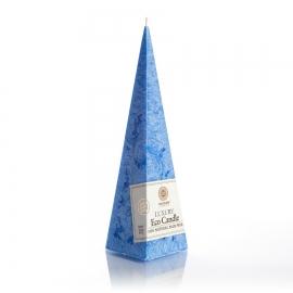 Pyramidenkerze. Blau