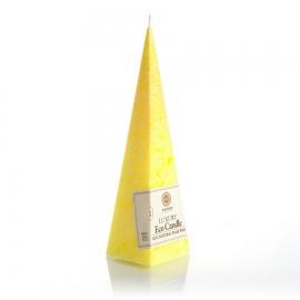 Pyramidenkerze. Gelb