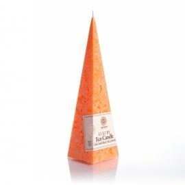 Pyramidenkerze. Orange