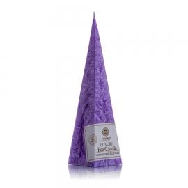 Pyramidenkerze. Violett