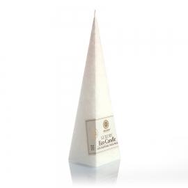 Pyramidenkerze. Weiß