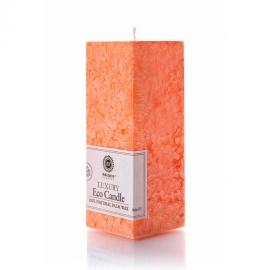 Viereckige Kerze. Orange