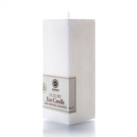 Viereckige Kerze. Weiß
