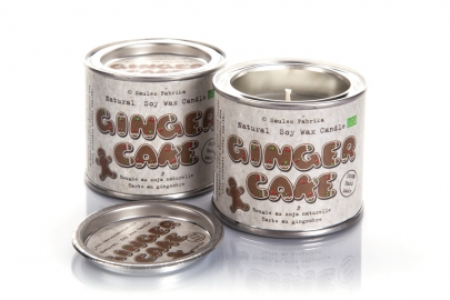 Ginger Cake soy wax candles in tins