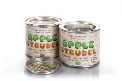 Bougies en cire de soja en boite Tarte aux pommes