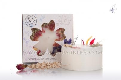 Bougies en cire de soja emballées Nr.4